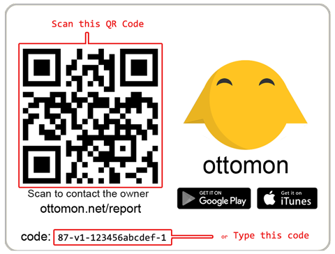scan ottomon code or type it manually
